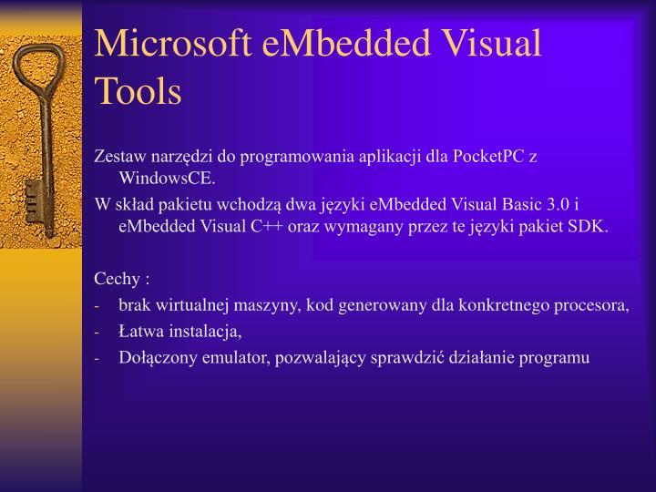 Microsoft eMbedded Visual Tools