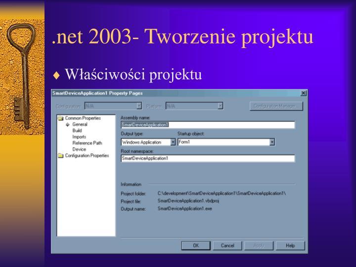 .net 2003- Tworzenie projektu