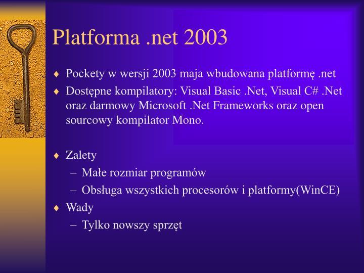 Platforma .net 2003