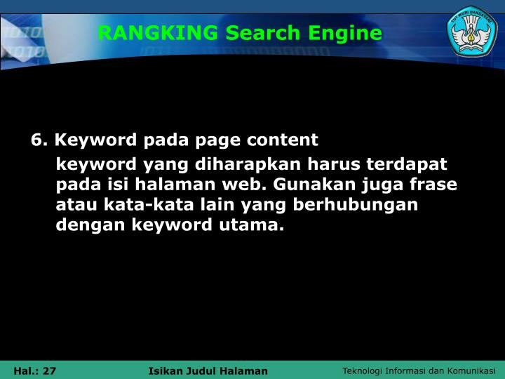 RANGKING Search Engine