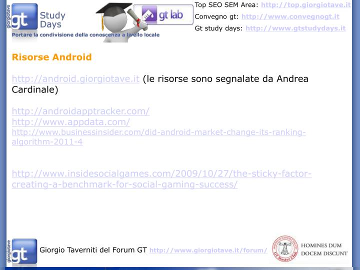 Risorse Android