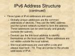 ipv6 address structure continued