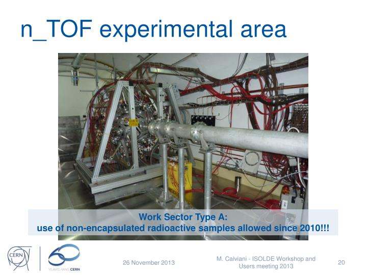 n_TOF experimental area