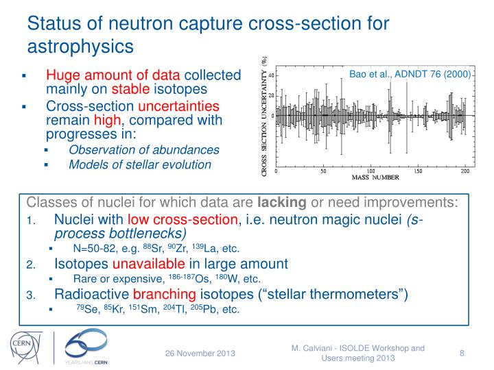 Status of neutron capture cross-section for astrophysics