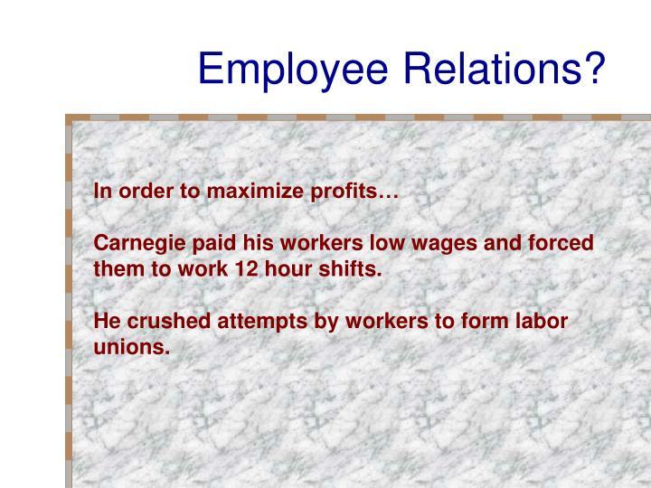 Employee Relations?