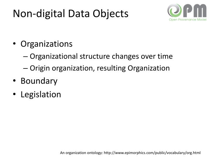 Non-digital Data Objects