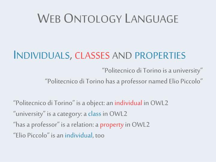 Web Ontology Language
