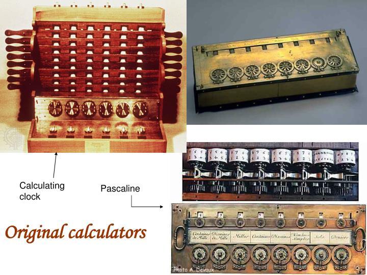 Calculating clock