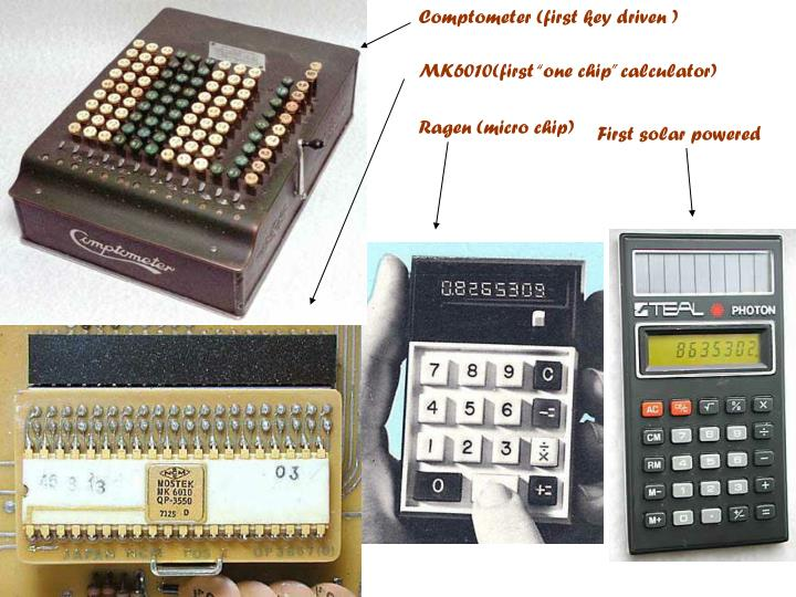 Comptometer (first key driven )