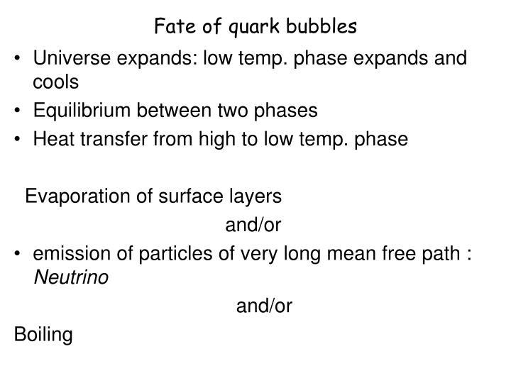 Fate of quark bubbles