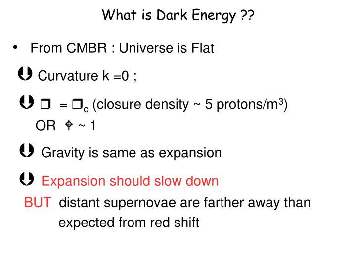 What is Dark Energy ??