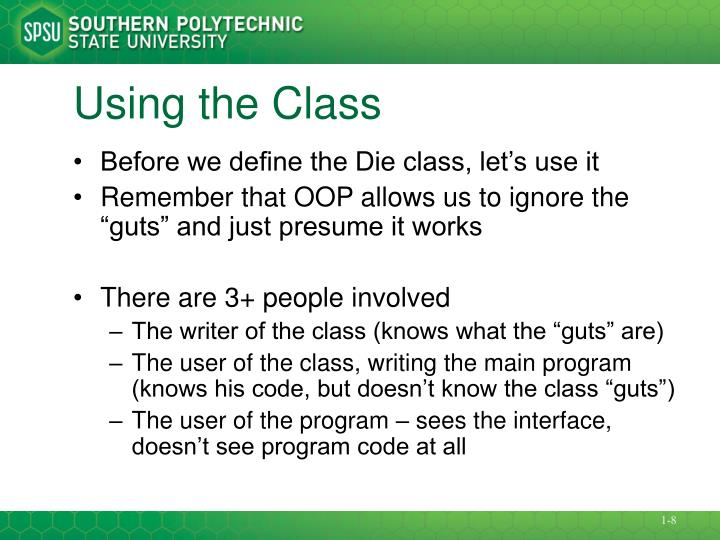 Using the Class