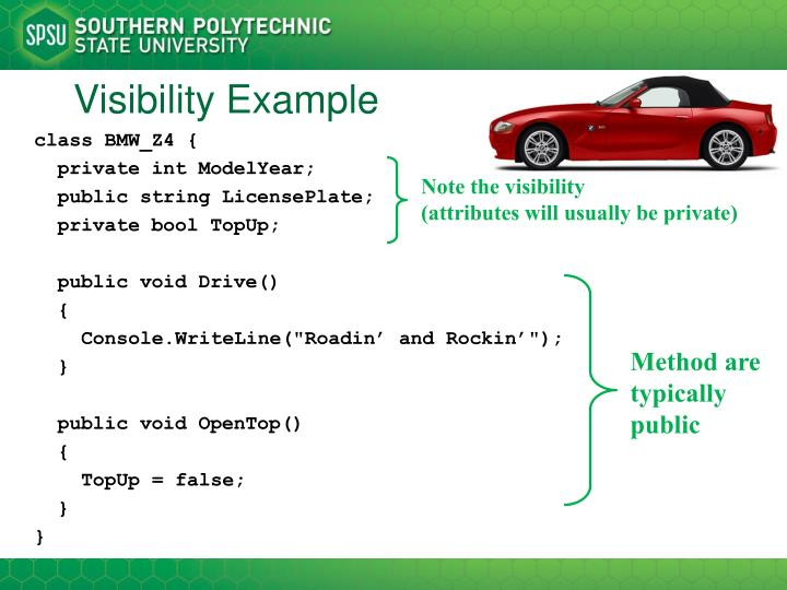 Visibility Example