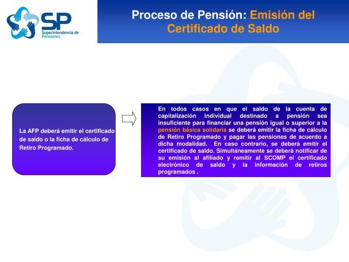 Proceso de Pensión: