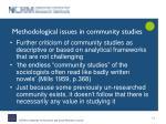 methodological issues in community studies2