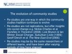 the evolution of community studies