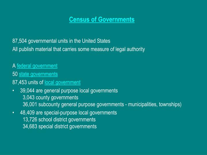 Census of Governments