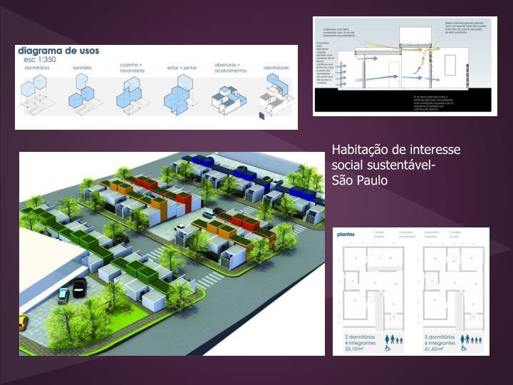 Habitação de interesse social sustentável-
