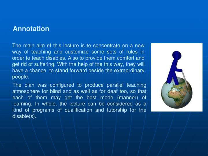 The main aim of this lecture is to concentrate on a new way of teaching and customize some sets of r...