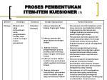 proses pembentukan item item kuesioner 1