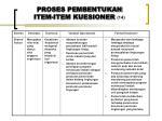 proses pembentukan item item kuesioner 14
