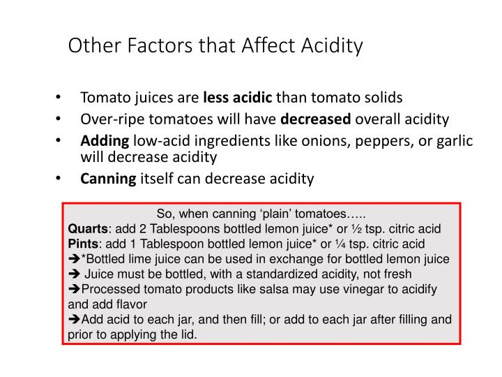 Other Factors that Affect Acidity