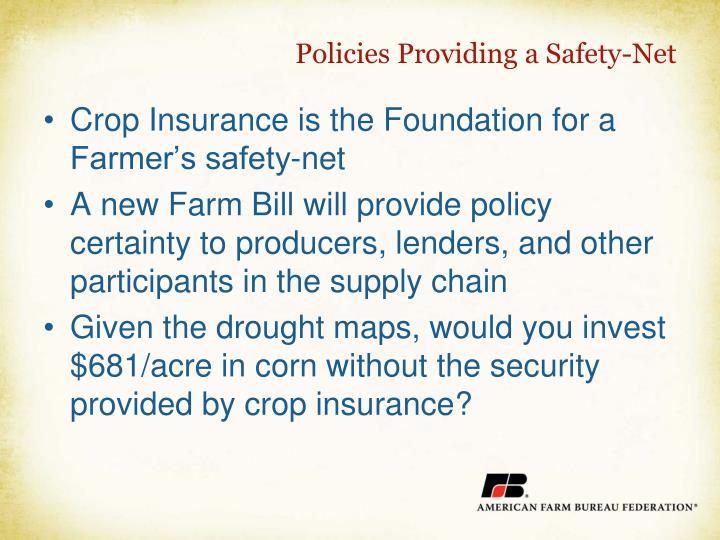 Policies Providing a Safety-Net