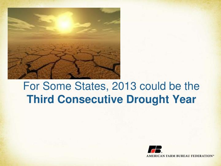 For Some States, 2013 could be the