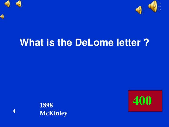 What is the DeLome letter ?