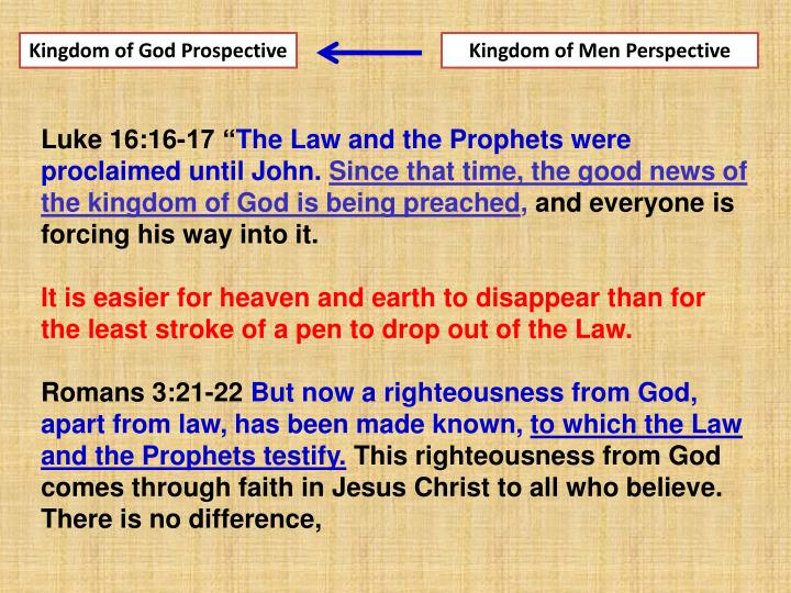 Kingdom of God Prospective