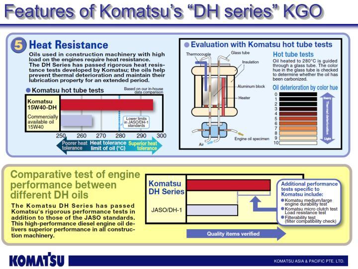 "Features of Komatsu's """