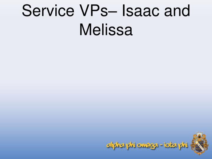 Service vps isaac and melissa