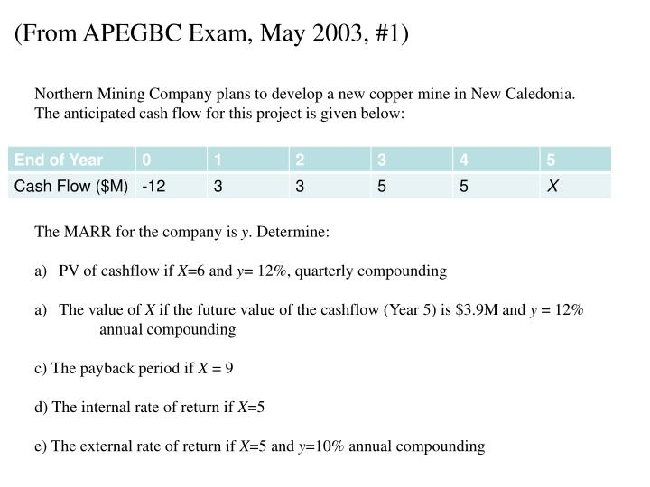 (From APEGBC Exam, May 2003, #1)