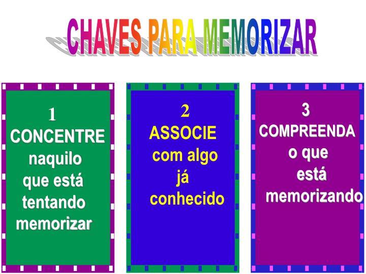 CHAVES PARA MEMORIZAR
