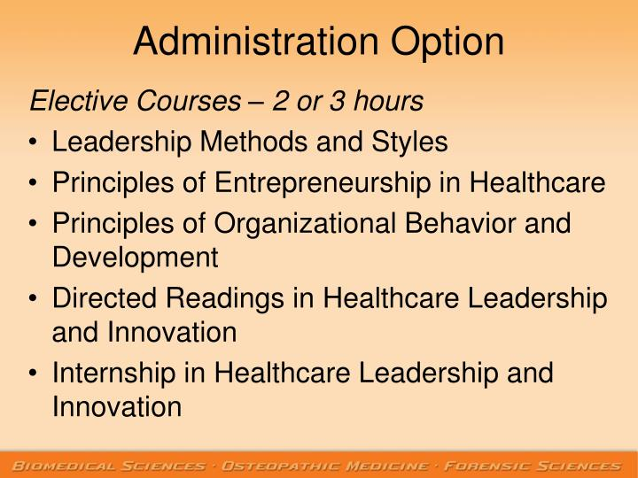 Administration Option