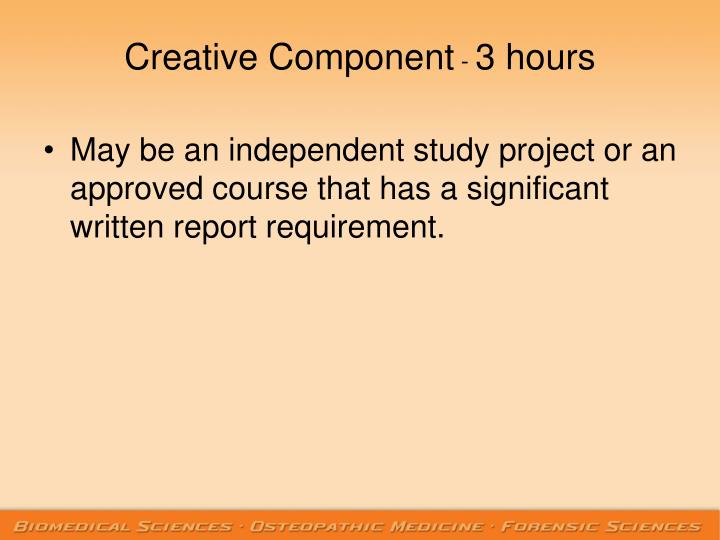 Creative Component