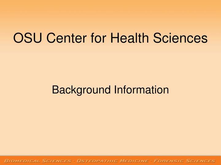 Osu center for health sciences