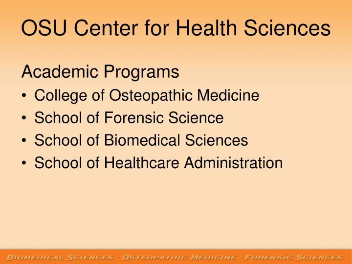 Osu center for health sciences1