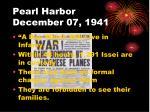 pearl harbor december 07 1941