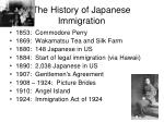 the history of japanese immigration