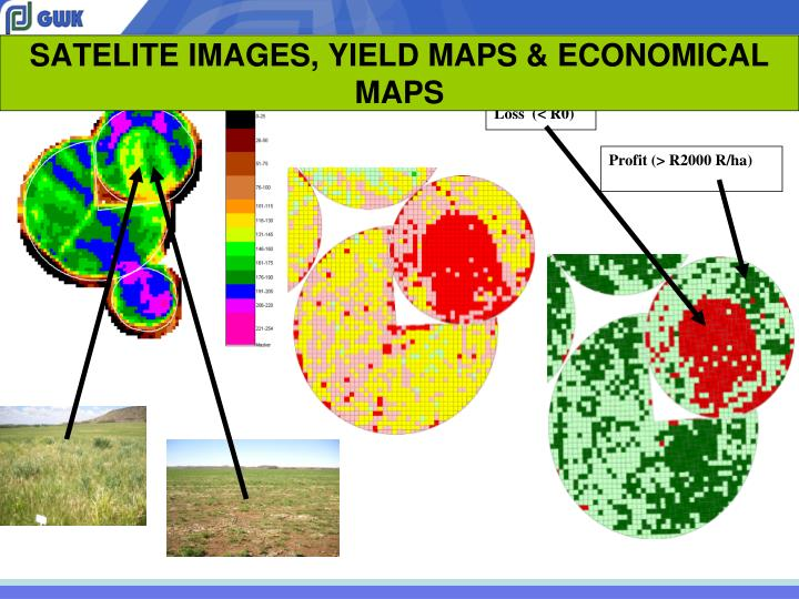 SATELITE IMAGES, YIELD MAPS & ECONOMICAL MAPS