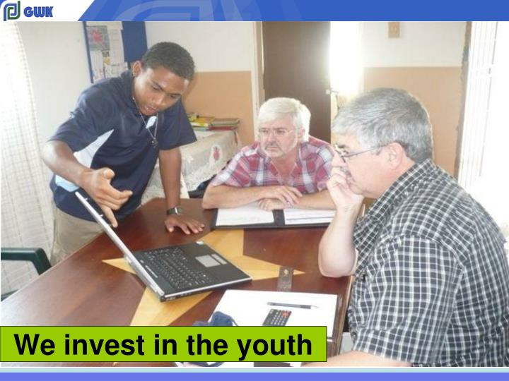 We invest in the youth