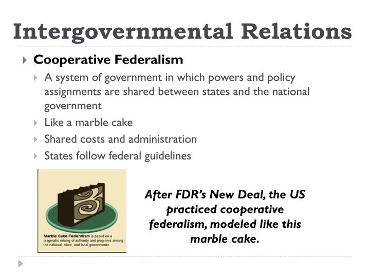 governments and intergovernmental relationship The intergovernmental relations act, 2012 5 consideration of any matter that affects relations between the two levels of government and amongst county governments.