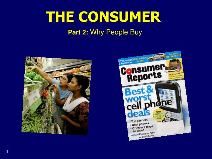 the consumer n.