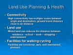 land use planning health