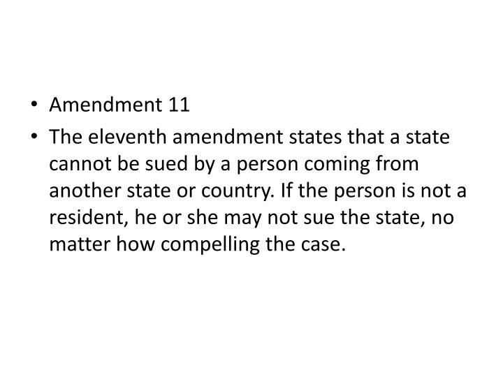 Amendment 11