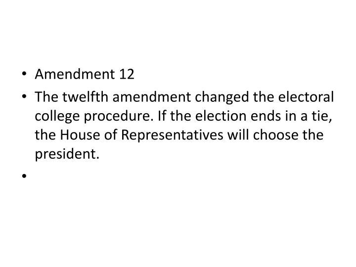 Amendment 12