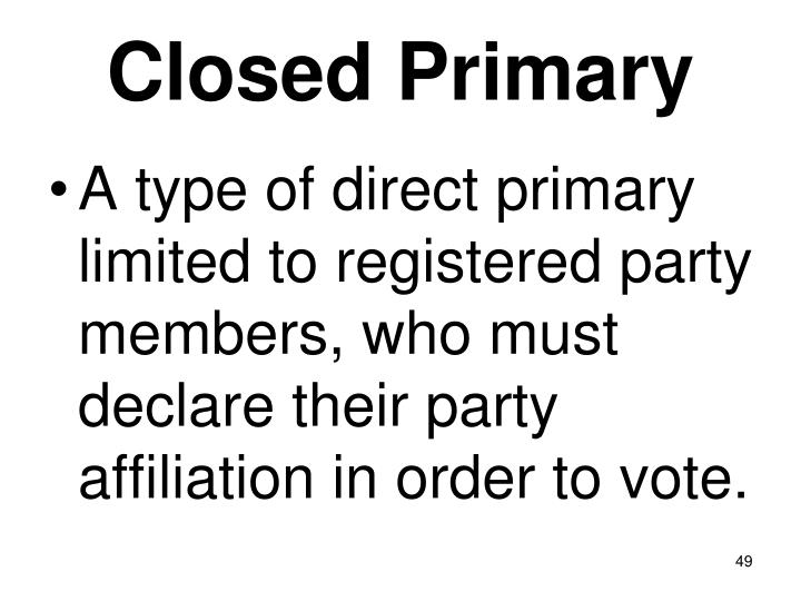 Closed Primary