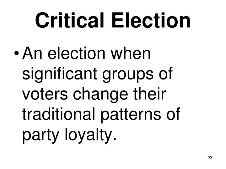 Critical Election