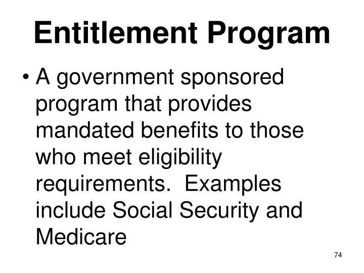 Entitlement Program